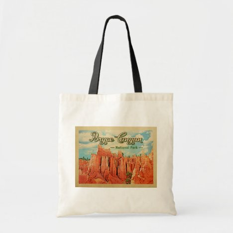 Bryce Canyon National Park Vintage Travel Tote Bag