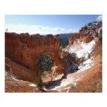 Bryce Canyon Natural Bridge Snowy Landscape Photo