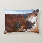 Bryce Canyon Natural Bridge Snowy Landscape Photo Accent Pillow