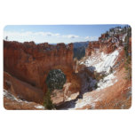 Bryce Canyon Natural Bridge Snowy Landscape Photo Floor Mat