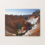 Bryce Canyon Natural Bridge Snowy Landscape Photo Jigsaw Puzzle