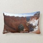 Bryce Canyon Natural Bridge Snowy Landscape Photo Lumbar Pillow