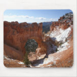 Bryce Canyon Natural Bridge Snowy Landscape Photo Mouse Pad