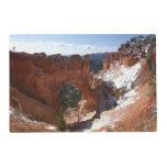 Bryce Canyon Natural Bridge Snowy Landscape Photo Placemat