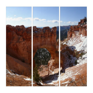 Bryce Canyon Natural Bridge Snowy Landscape Photo Triptych