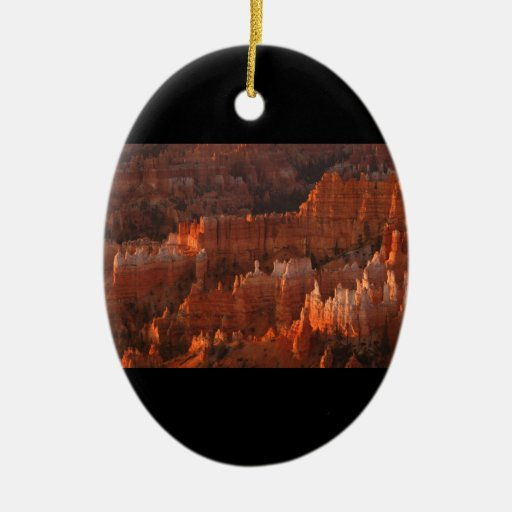Bryce Canyon Double-Sided Oval Ceramic Christmas Ornament