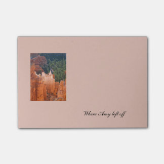 Bryce Canyon photo and text bookmark template Post-it Notes