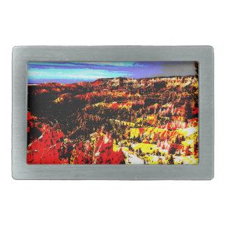 Bryce Canyon Posterization Amphitheater Belt Buckle