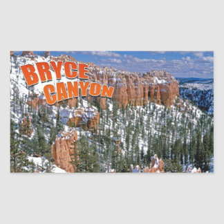 Bryce Canyon Rectangular Sticker