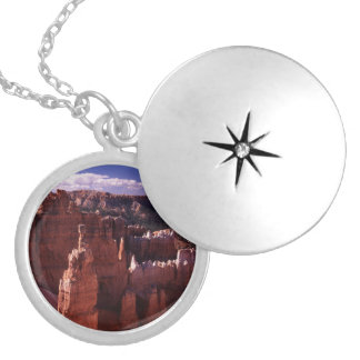 Bryce Canyon Round Locket Necklace