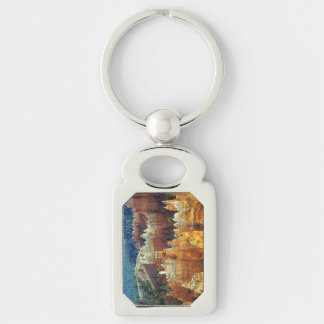 Bryce Canyon Silver-Colored Rectangular Metal Keychain