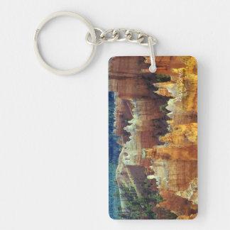 Bryce Canyon Single-Sided Rectangular Acrylic Keychain