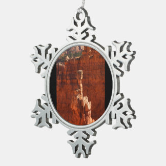 Bryce Canyon Snowflake Pewter Christmas Ornament