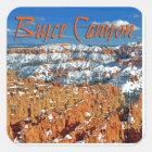 Bryce canyon square sticker