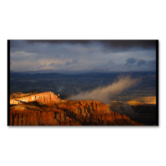 Bryce Canyon Storm Business Card Magnet
