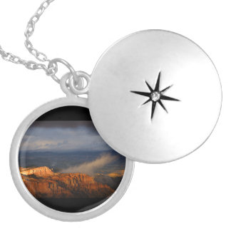 Bryce Canyon Storm Round Locket Necklace