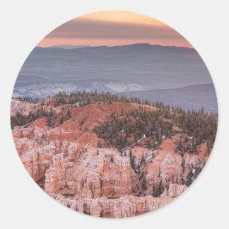 Bryce Canyon Sunrise Classic Round Sticker