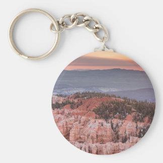 Bryce Canyon Sunrise Basic Round Button Keychain