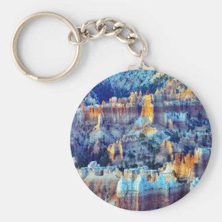 Bryce Canyon Sunrises Basic Round Button Keychain