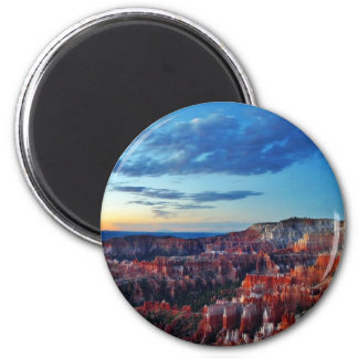 Bryce Canyon Sunrises Clouds 2 Inch Round Magnet