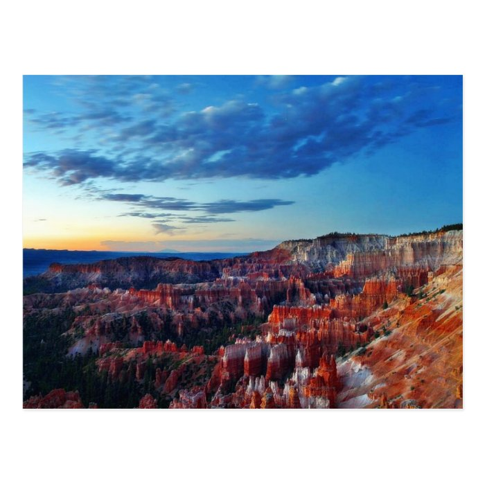 Bryce Canyon Sunrises Clouds Postcard