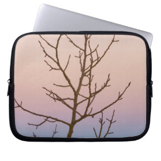 Bryce Canyon, Utah. Bare tree in front of sunset Laptop Sleeves