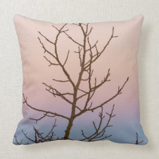 Bryce Canyon, Utah. Bare tree in front of sunset Throw Pillow