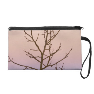 Bryce Canyon, Utah. Bare tree in front of sunset Wristlet Purse
