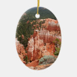 Bryce Canyon, Utah, USA 13 Double-Sided Oval Ceramic Christmas Ornament