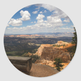 Bryce Canyon Vista Classic Round Sticker