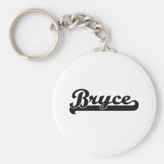 Bryce Classic Retro Name Design Basic Round Button Keychain
