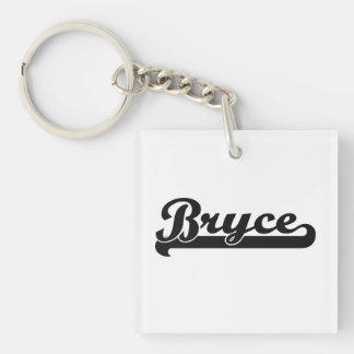 Bryce Classic Retro Name Design Single-Sided Square Acrylic Keychain