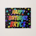 "[ Thumbnail: ""Bryce"" First Name, Fun ""Happy Birthday"" Jigsaw Puzzle ]"