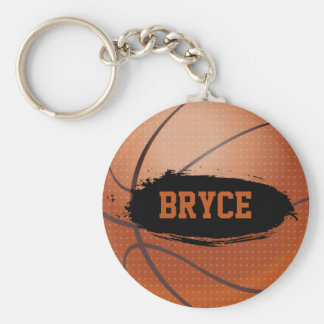 Bryce Grunge Basketball Key Chain / Key Ring