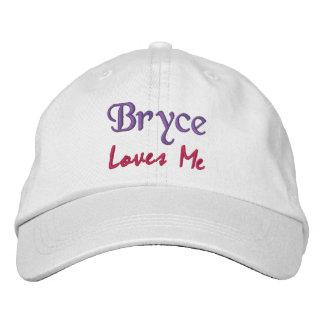 Bryce me ama bordó el gorra/el casquillo conocidos gorras bordadas