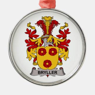 Bryller Family Crest Round Metal Christmas Ornament