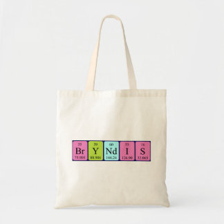 Bryndís periodic table name tote bag