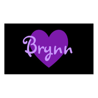Brynn Purple Heart Design Double-Sided Standard Business Cards (Pack Of 100)