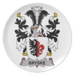 Bryske Family Crest Dinner Plates