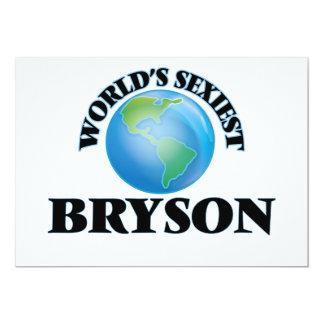 """Bryson más atractivo del mundo invitación 5"""" x 7"""""""