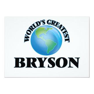 """Bryson más grande del mundo invitación 5"""" x 7"""""""