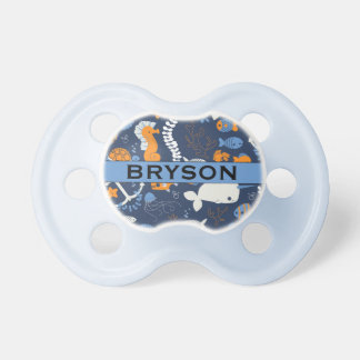 """""""Bryson"""" Personalized Name Ocean BooginHead Pacifier"""