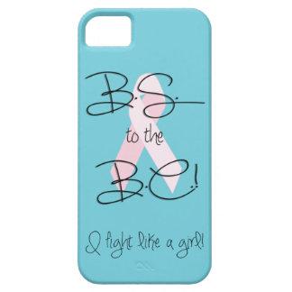 ¡BS a A.C.! Caso del iPhone 5 de la lucha del cánc iPhone 5 Case-Mate Protector