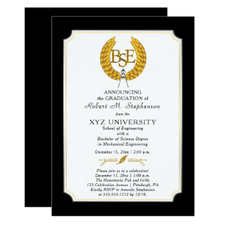 BS - Bachelor of Science Engineering Graduation Invitation