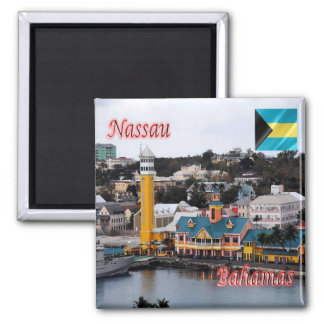 BS - Bahamas - Nassau - Cruise Ship Terminal 2 Inch Square Magnet