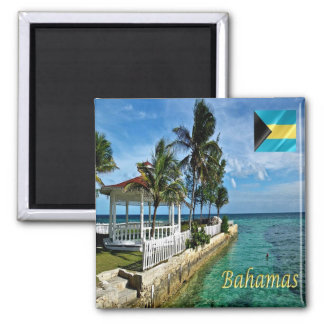 BS - Bahamas - Panorama 2 Inch Square Magnet