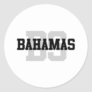 BS Bahamas Round Stickers