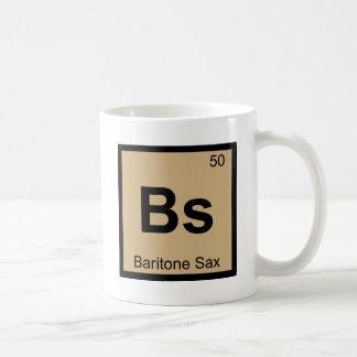 Bs - Baritone Sax Music Chemistry Periodic Table Classic White Coffee Mug