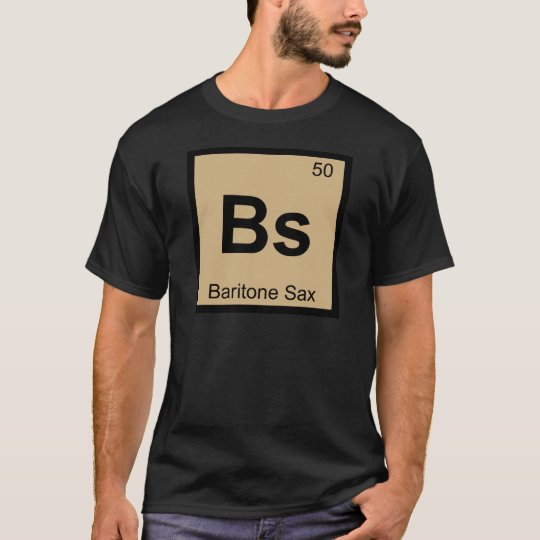 Bs baritone sax music chemistry periodic table t shirt zazzle bs baritone sax music chemistry periodic table t shirt urtaz Images