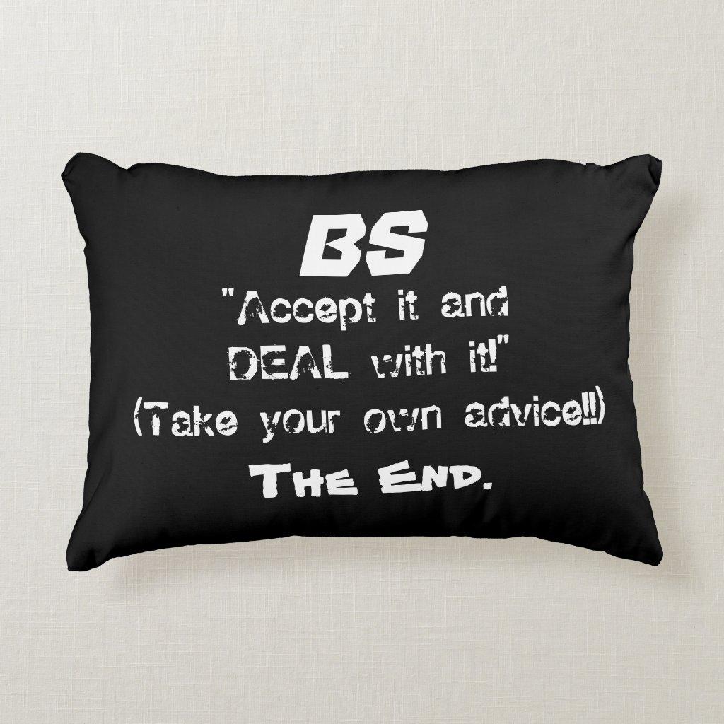 'BS' Cotton Accent Pillow